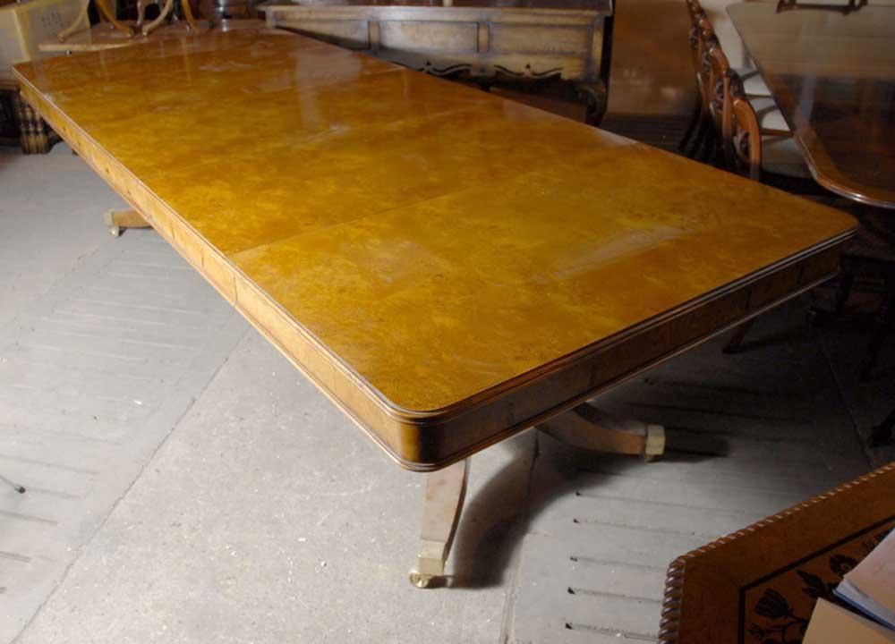 10 ft english georgian split base pedestal dining table