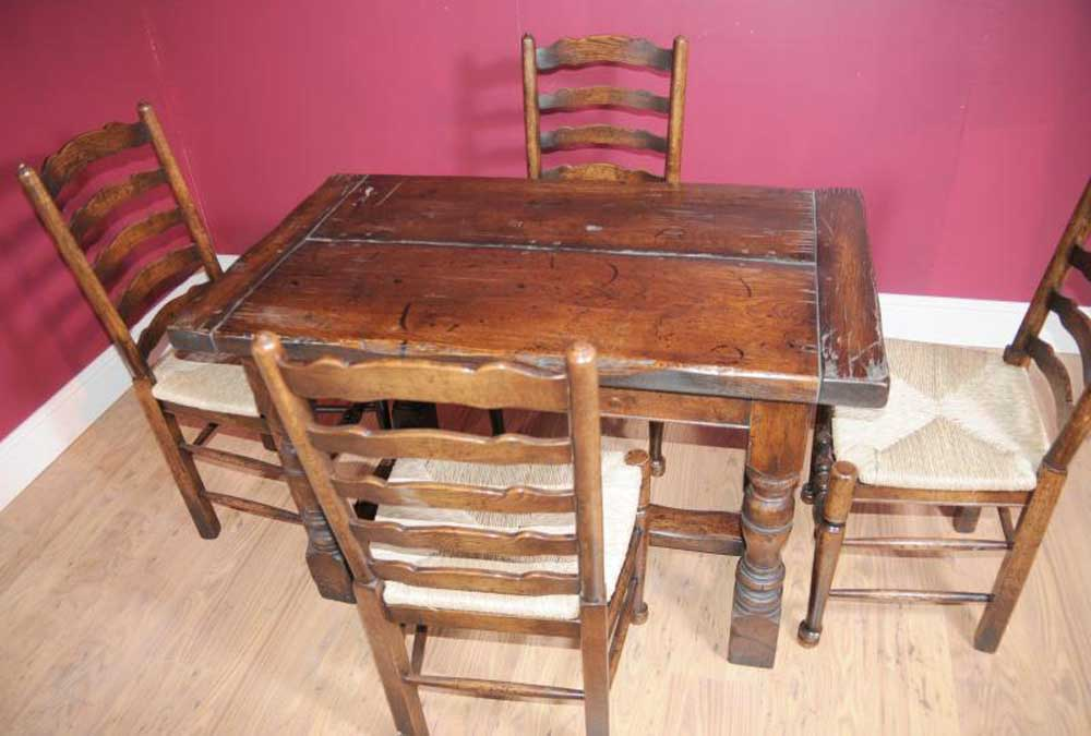 4ft Oak Refectory Table Country Kitchen