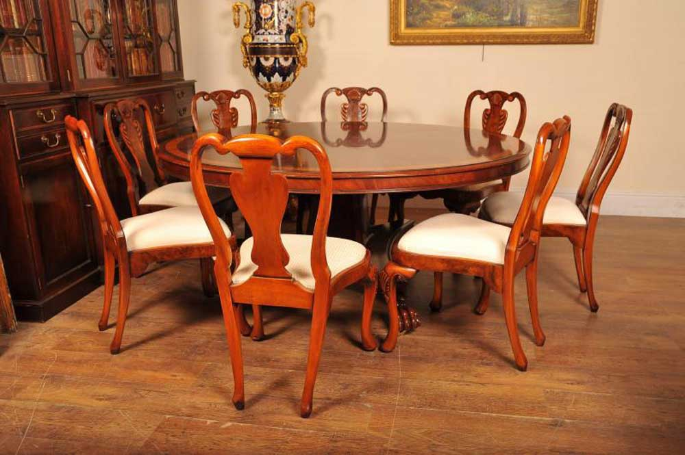 6ft Flame Mahogany Regency Dining Table Round