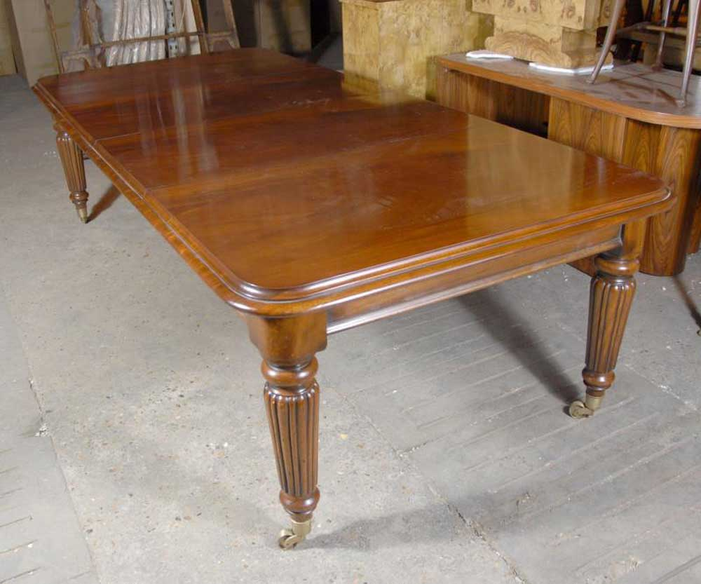 9 foot English Victorian Dining Table Tables