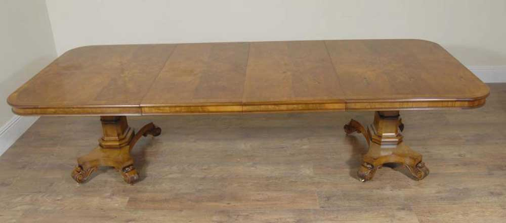 English Georgian Walnut Pedestal Dining Table George II