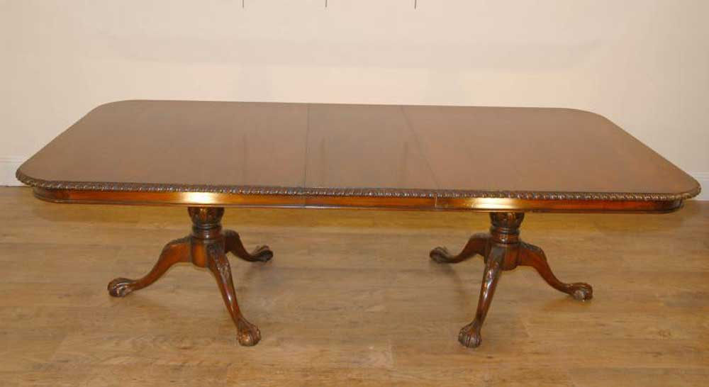 English Mahogany Chippendale Regency Dining Table Tables