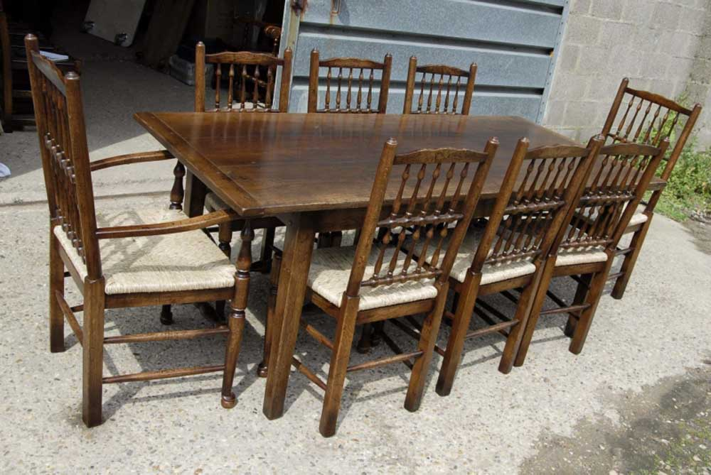 English Oak Rustic Refectory Table Kitchen Diner TablesEnglish Oak Rustic Refectory Table Kitchen Diner Tables