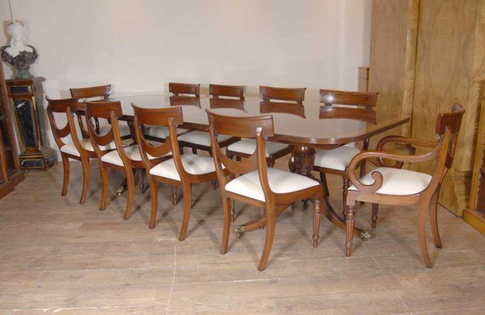 Luxury Regency Table & Swag Chair Dining Set