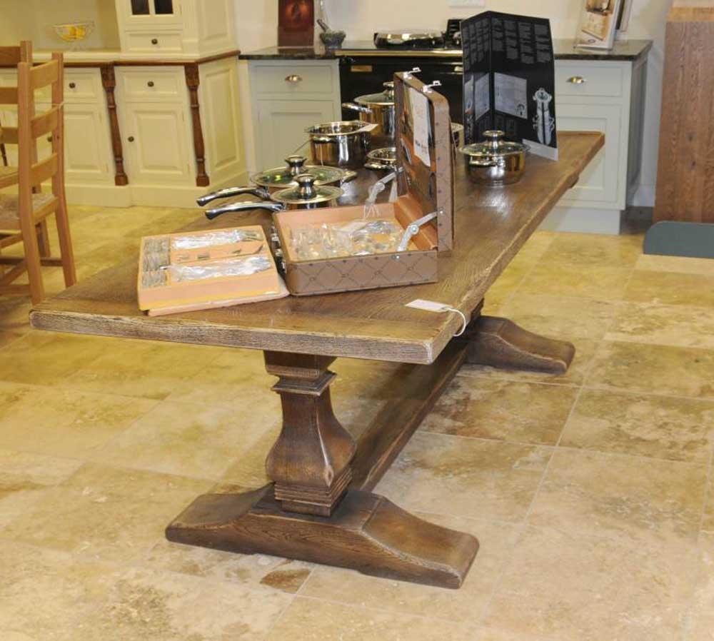 Oak Country Tavern Farmhouse Trestle Table Refectory