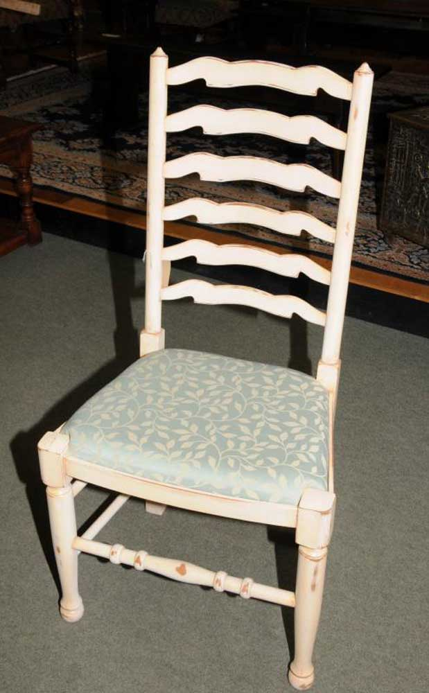 Painted Country Table Set Ladderback Chairs Set