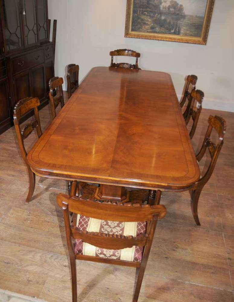 regency dining table walnut set inlay william iv chairs. Black Bedroom Furniture Sets. Home Design Ideas