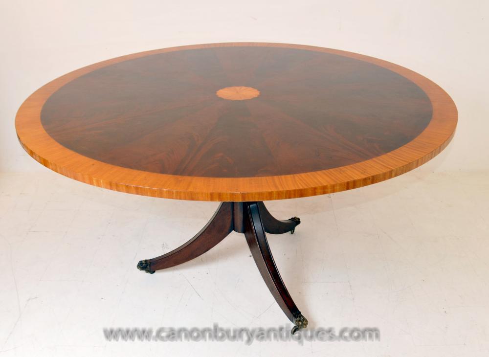 Regency Sheraton Centre Dining Table Mahogany Furniture