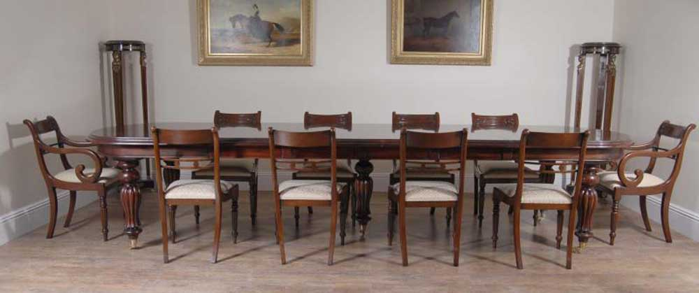 Victorian Dining Set Regency Rosette Chairs Suite