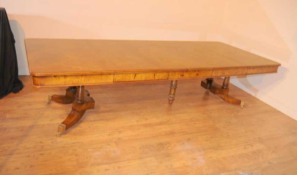 Walnut Regency Extending Dining Table Split Base
